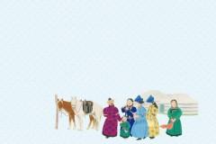 阿木古楞设计的蒙古元素ppt背景1